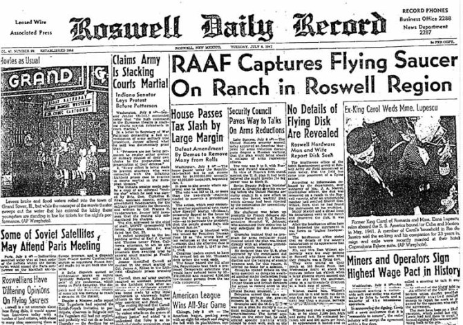 UFO di roswell